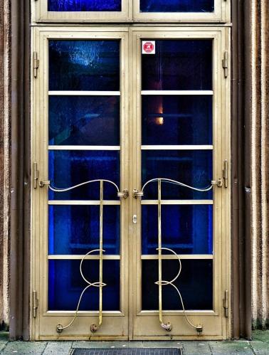 Art Deco door - close