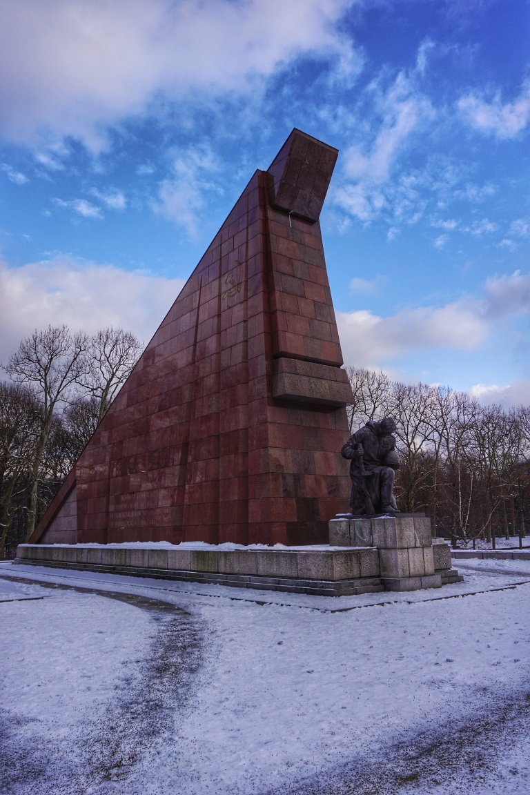 Berlin Soviet  War Memorial statue 3