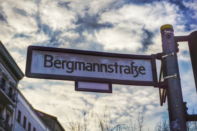 Berlin Bergmankiez streetname