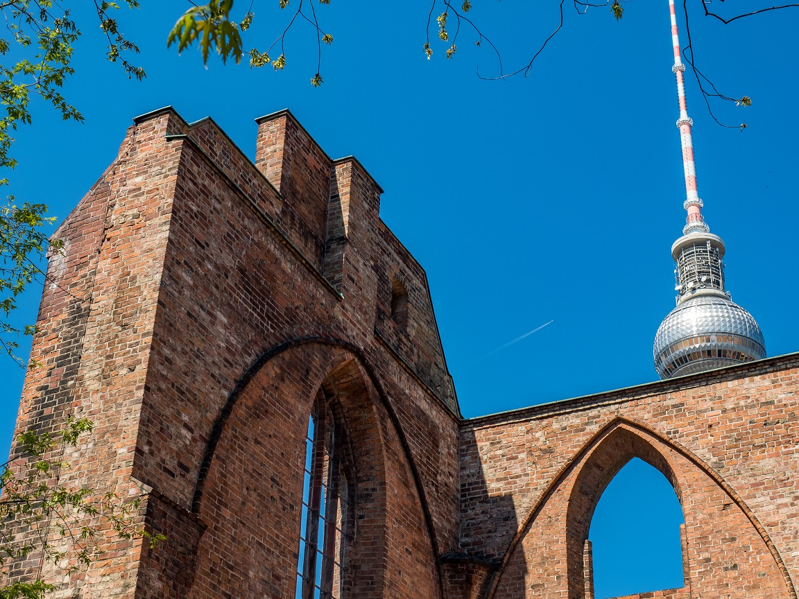 The franciscan monastery church ruins in city center for The franciscan
