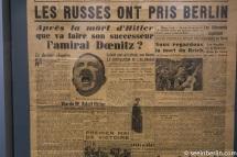 French newspaper informing of Hitler's death
