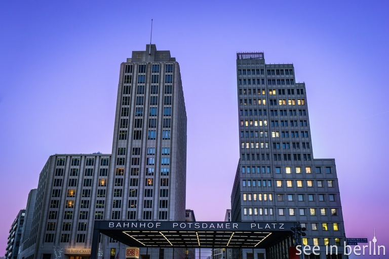 buildings on and around Potsdamer Platz in Berlin, Germany
